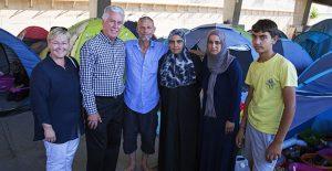 Návšteva utečeneckého tábora v Grécku